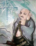 Shovelling Snow with Buddha - Acrylic - Billy Collins