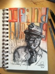 Elvis Costello music musician quote sketch mixed media